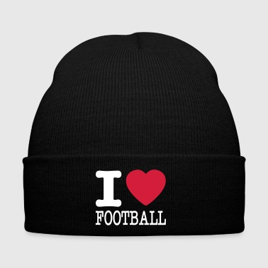 i love football / I heart football  2c - Cappellino invernale