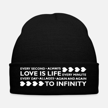 Romantico LOVE IS LIFE - Cappellino invernale