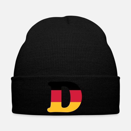 Country Caps & Hats - Deutschland - classic font - Winter Hat black
