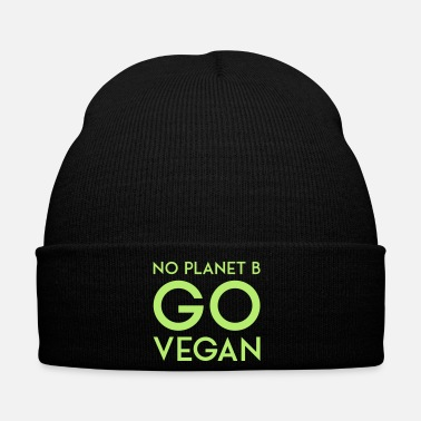 Planet NO PLANET B GO VEGAN - Bonnet d'hiver