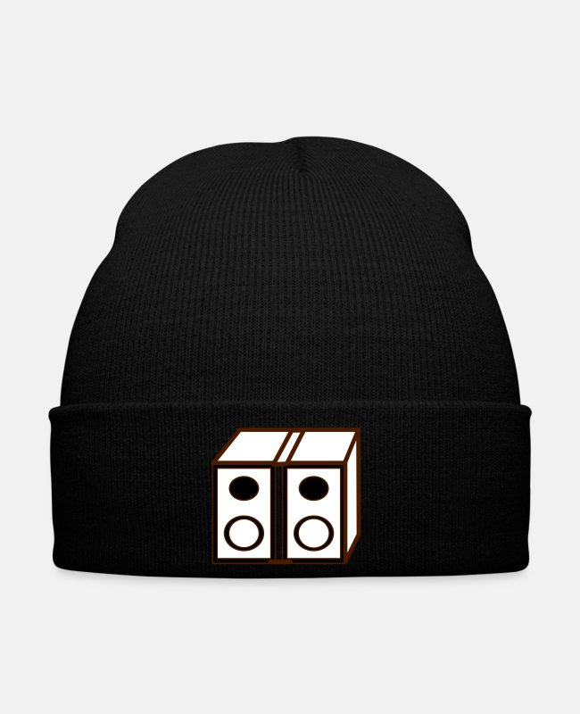 Bass Caps & Hats - Sound system boxing music rave conditioning bass - Winter Hat black