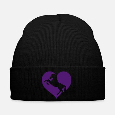 Dressage Horse love heart rider dressage Haflinger gift - Winter Hat