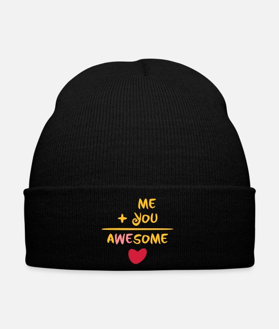 Maths Caps & Hats - Me plus you equals awesome - Winter Hat black