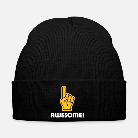 Strong Caps & Hats - I Am Awesome! - Winter Hat black