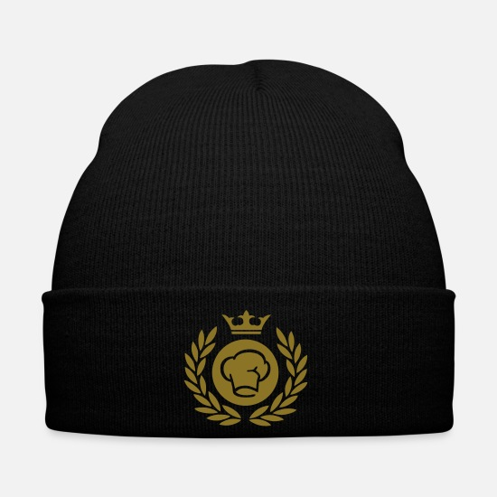 Symbol  Caps & Hats - Laurel wreath (chef's hat) 01 - Winter Hat black