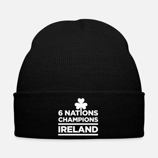 Ireland Caps & Hats - Ireland Rugby Champions - Winter Hat black