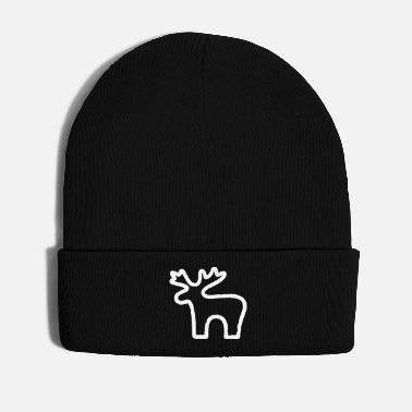 Scandinavia Moose drawing I Christmas Scandinavia winter - Winter Hat