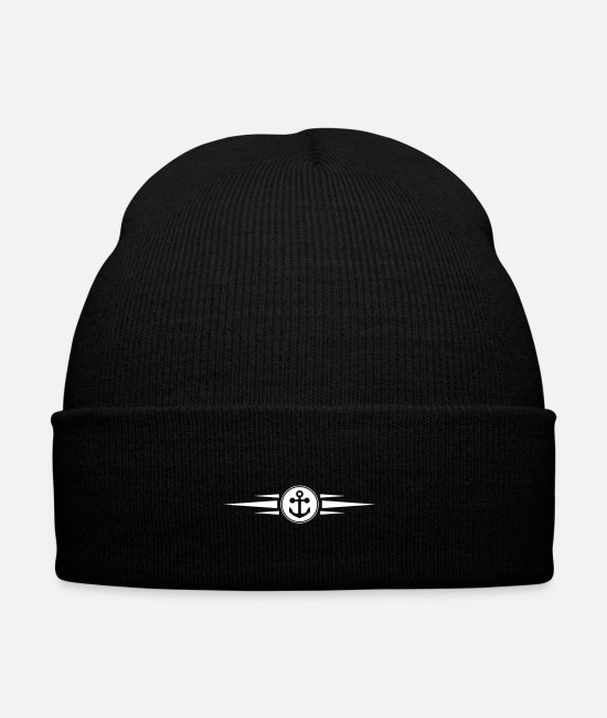 Line Caps & Hats - anchor icon dash - Winter Hat black