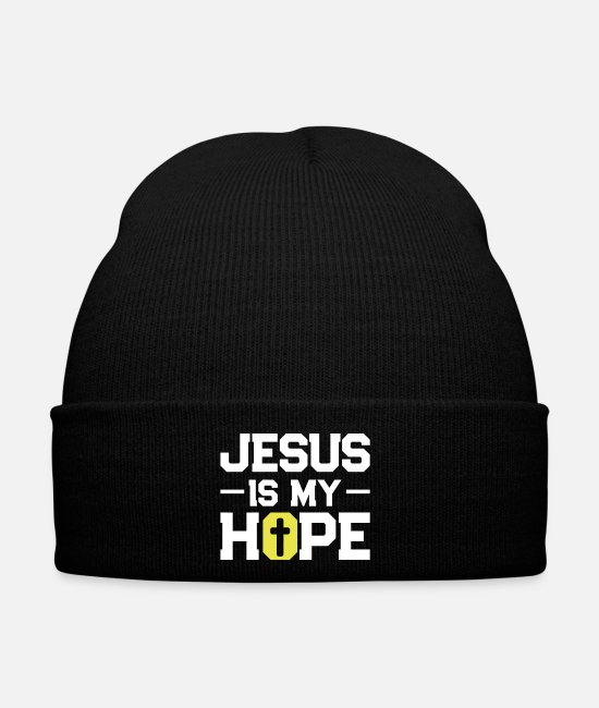 I Am In Love Caps & Hats - jesus hope - Winter Hat black