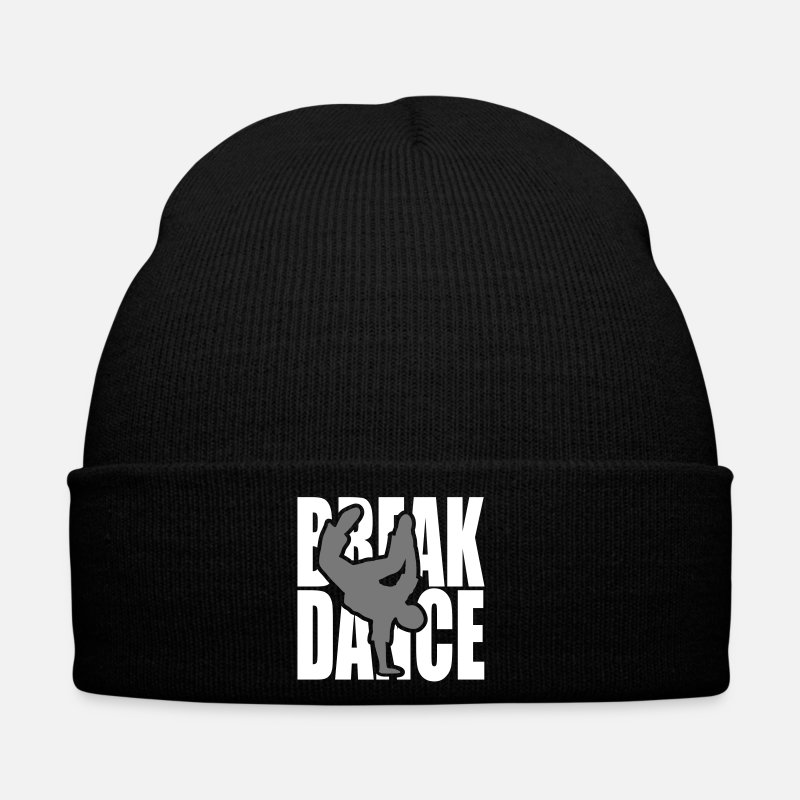Breakdance Gorras y gorros - Breakdance danza break música silueta Clipart - Gorro negro