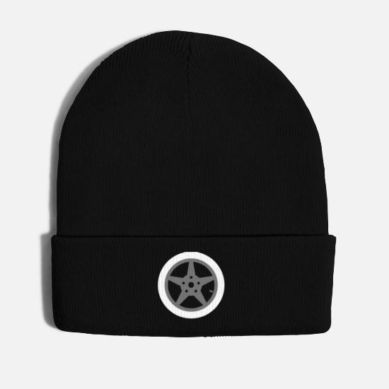 Rim Caps & Hats - Autoreifen gift for tuner - Winter Hat black