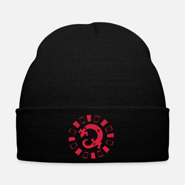Lizard petroglyph lizard circle - Winter Hat