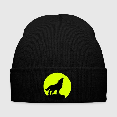 Wolf & Full Moon - Winter Hat