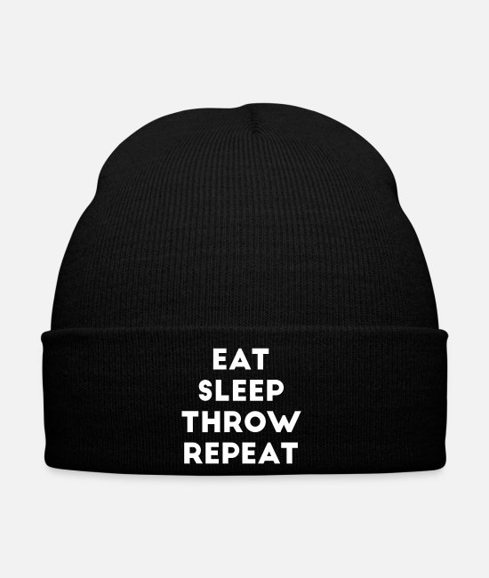 Jeter Casquettes et bonnets - Eat Sleep Throw Répéter Throw Throw EM WM - Bonnet noir