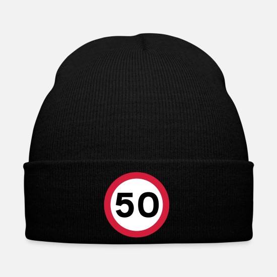 Sign Caps & Hats - Hitting the BIG 50! - Winter Hat black