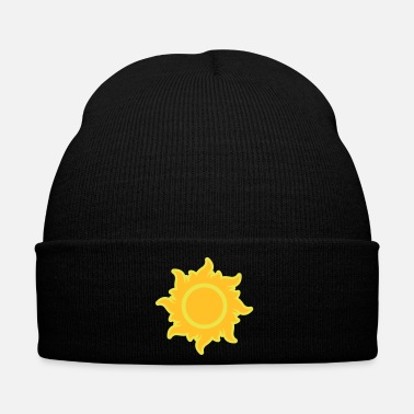 California fiery sun rays hot summer heat stars - Winter Hat