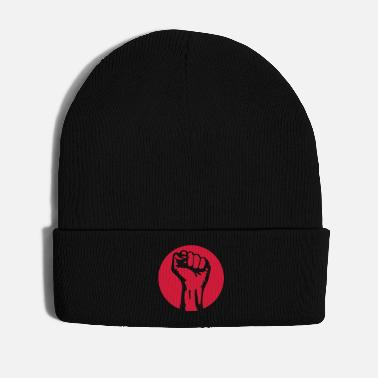 Class Struggle 1 color - against capitalism working class war - Winter Hat