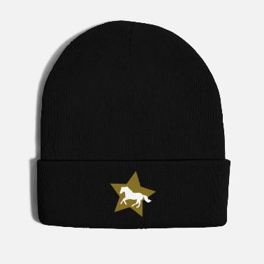 Gallop Galloping Horse on Gold Star - Winter Hat