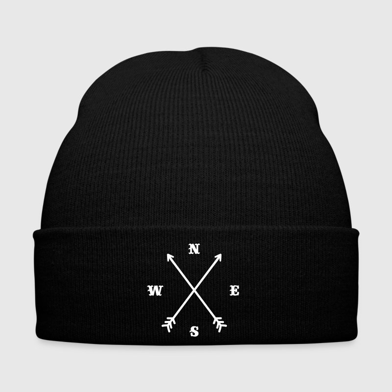 Hipster compass / Cross - Modern Trendy Outfit - Winter Hat