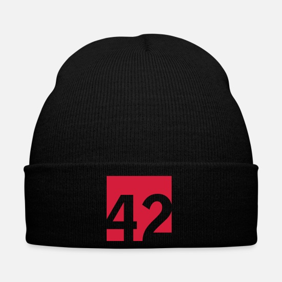 Space Caps & Hats - 42 Answer to all questions (1c) - Winter Hat black