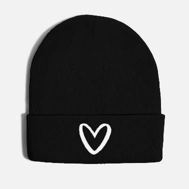 Chalk Heart in chalk look I love symbol sign - Winter Hat