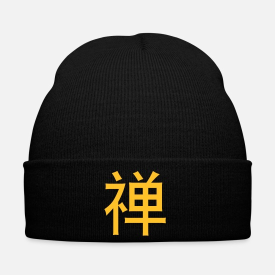 Writing Caps & Hats - Chinese Words: Zen - Winter Hat black