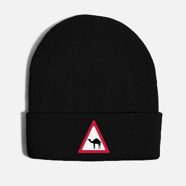 Ungulate Caution Camel Traffic Sign - Winter Hat
