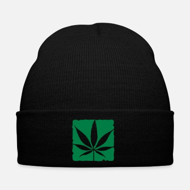 Marijuana weed leaf boxed - Cappello invernale