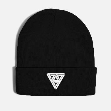 &amp Optical illusion Triangle Minimal Shape - Winter Hat