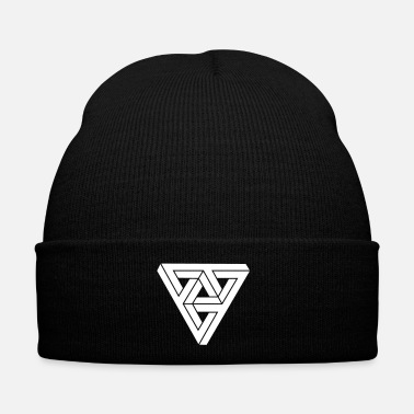 Minimal Optical illusion Triangle Minimal Shape - Cappellino invernale