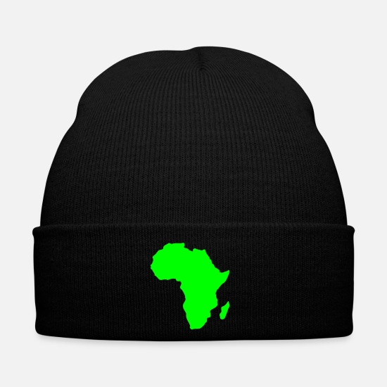 South Caps & Hats - Africa, continent, Europe, Asia, America, South - Winter Hat black