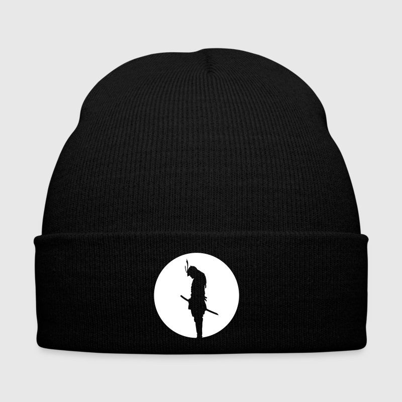 Japan Samurai Warrior -  silhouette (Japan flag) - Bonnet d'hiver
