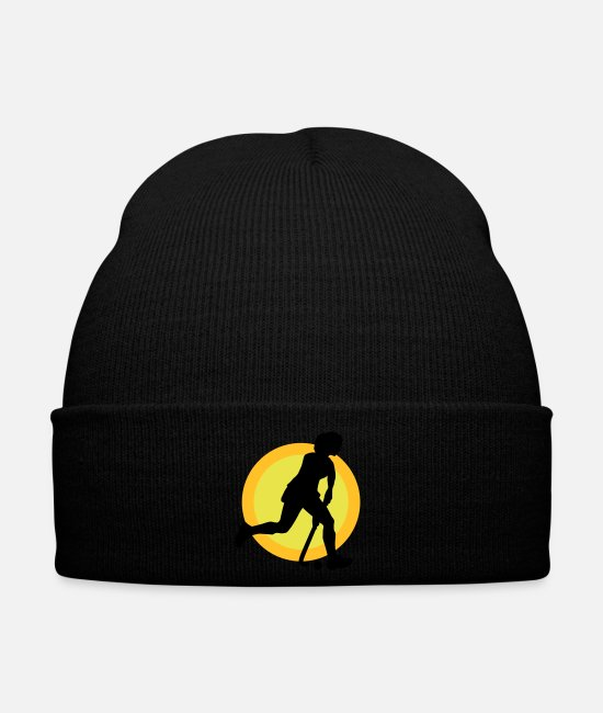 Association Casquettes et bonnets - hockey_woman_b_3c - Bonnet noir
