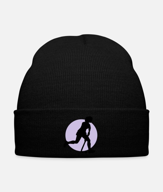 Hockey Casquettes et bonnets - hockey_woman_b_2c - Bonnet noir