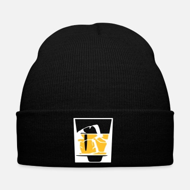 Mature Tumbler Of Whiskey And Ice Cubes - Winter Hat