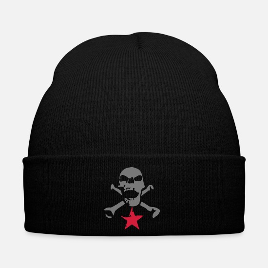 Rock Caps & Hats - skull_and_stars_072011_i_2c - Winter Hat black