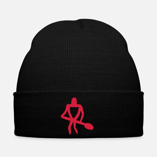 Aquatics Caps & Hats - petroglyph canoe paddler - Winter Hat black