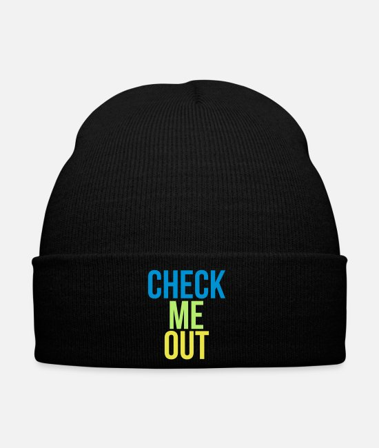 Quote Caps & Hats - check me out - Winter Hat black