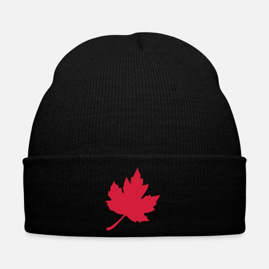 Green Caps & Hats - maple leaf - Winter Hat black