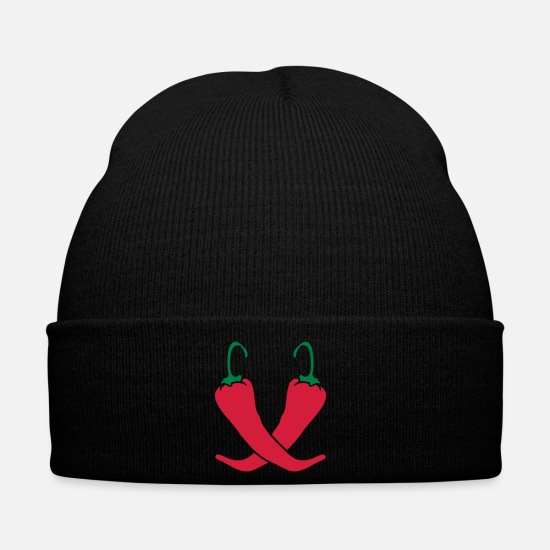 Nature Caps & Hats - 2 chili chilli peppers hot hot - Winter Hat black