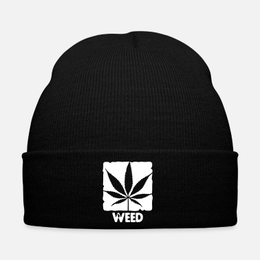 Rap weed with boxed leaf - Gorro de invierno