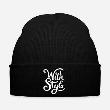 Swag With Style! Cool & Trendy Typography Design  - Bonnet d'hiver