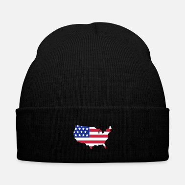 Strip Stars and Stripes of USA, United States of America  - Bonnet d'hiver