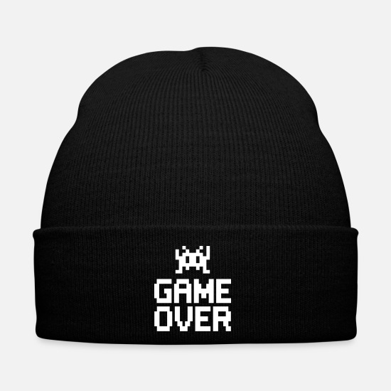 Geek Caps & Hats - game over with sprite - Winter Hat black