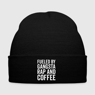 Gangsta Rap And Coffee Funny Quote - Bonnet d'hiver