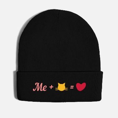 Equalizer Me plus my cat equals love - Winter Hat