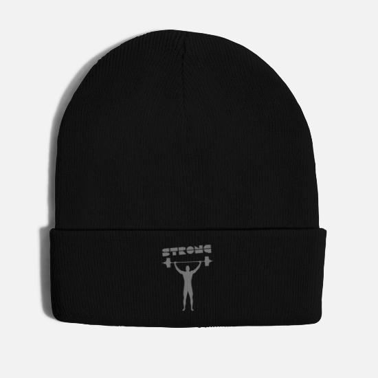 Strong Caps & Hats - strong 1 - Winter Hat black