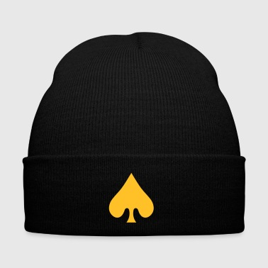 poker card / spades - Winter Hat