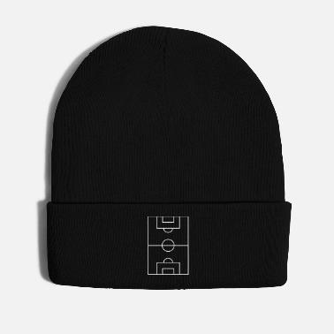 Pitch Football pitch player kicking funny style tour - Winter Hat