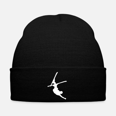Freestyle skier freestyle upside down - Cappellino invernale